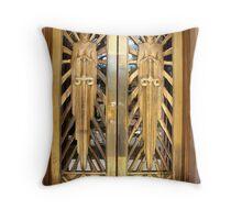 bisbee courthouse doors2 Throw Pillow