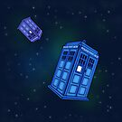 Phone Box in Space by merrypranxter