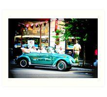 Green Car Art Print