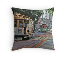 Cable Cars Throw Pillow