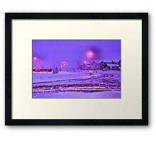 Christmas Morning in Purple Framed Print