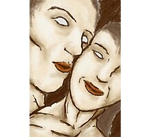 Lovers in Digital Pastel Photographic Print