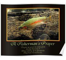A Fisherman's Prayer Poster