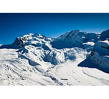 monte rosa and lyskamm Photographic Print