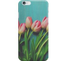 Pink Spring tulips iPhone Case/Skin