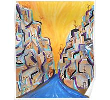Sunny Canyon, Abstract Southwestern Art, Acrylic Painting Poster