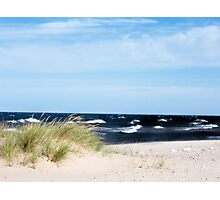 Choppy Lake Michigan Photographic Print