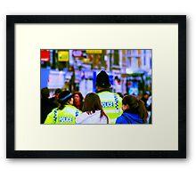 Uk cops Framed Print