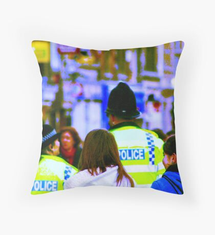 Uk cops Throw Pillow
