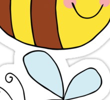Cute Bumble Bee Drawing  Sticker