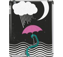 The octopus and the sea (on a rainy day) iPad Case/Skin