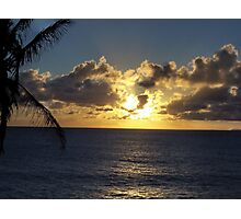Sun setting lower in Molokai Photographic Print