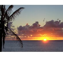 End of sunset in Molokai Photographic Print