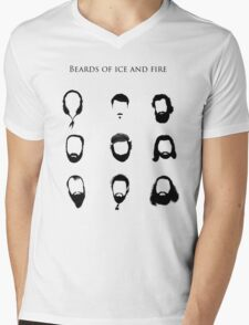 Beards of Ice and Fire Mens V-Neck T-Shirt