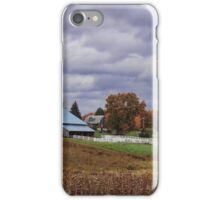 Beautiful fall farmland iPhone Case/Skin