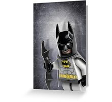 Batman Lego Artwork - Custom Photography Greeting Card