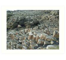 My weekend trip to Giant's Causeway in Northern Ireland. Art Print