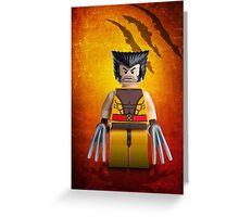Wolverine Lego Artwork - Custom Photography Greeting Card
