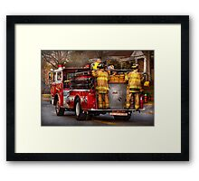 Fireman - Metuchen Fire Department  Framed Print