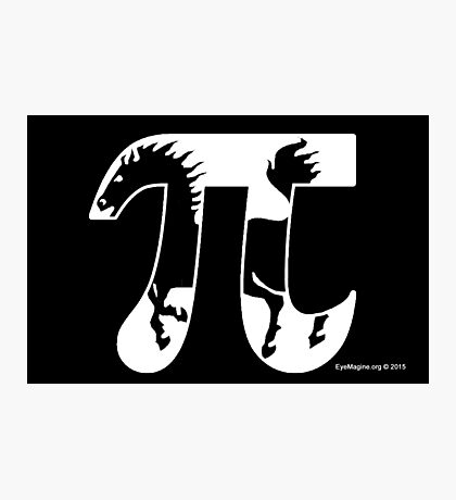 Pi Horse Photographic Print