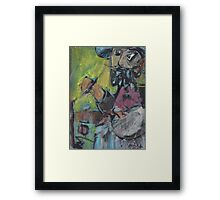 JUST PAINTING AWAY(C2004) Framed Print