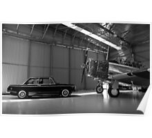 Classic BMW 2002 - Profile with Plane Poster