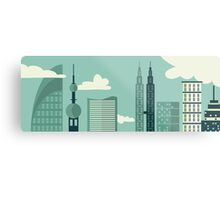Big City View Metal Print