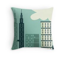 Big City View Throw Pillow
