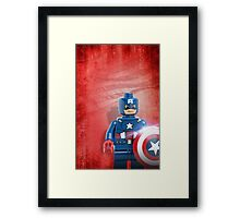 Lego Captain America - Custom Artwork & Photography Framed Print