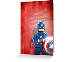 Lego Captain America - Custom Artwork & Photography Greeting Card