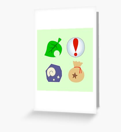 Animal Crossing Icons Greeting Card