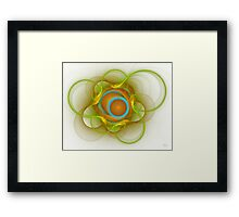 'Light Flame Abstract 114' Framed Print