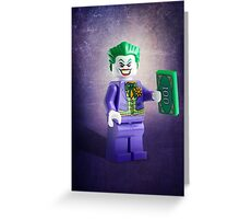 Lego Joker - Custom Artwork & Photography Greeting Card