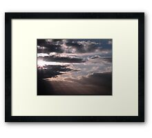 Cloudy Saturday Morning Framed Print