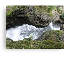 Behind the Waterfall of Love Canvas Print