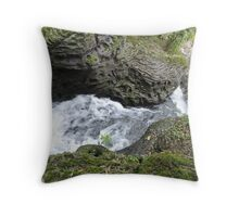 Behind the Waterfall of Love Throw Pillow
