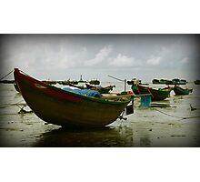 Boats Align Photographic Print