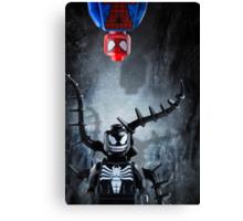 Lego Spiderman and Venom - Custom Artwork & Photography Canvas Print
