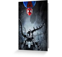 Lego Spiderman and Venom - Custom Artwork & Photography Greeting Card