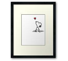 Snoopy in love Framed Print