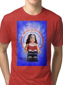 Lego Wonder Woman - Custom Artwork & Photography Tri-blend T-Shirt
