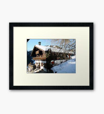 Alet cozy house-Austria -Salzburger Land Framed Print