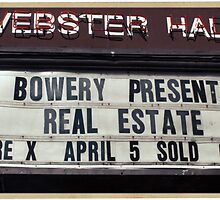 Webster Hall billboard in NYC by Reinvention