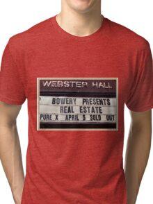 Webster Hall billboard in NYC Tri-blend T-Shirt