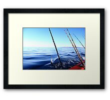 Let's Go Fishing Framed Print
