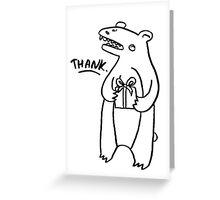 THANK bear Greeting Card