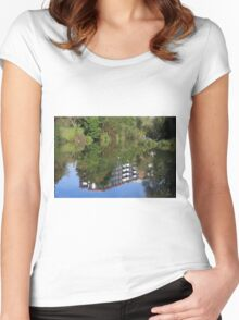 Fisherman On The Riverbank Women's Fitted Scoop T-Shirt