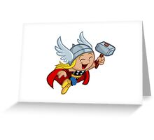 Funny Thor Greeting Card