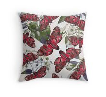 moth and botany Throw Pillow
