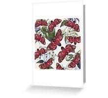 moth and botany Greeting Card
